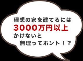理想の家を建てるには3000万円以上かけないと無理ってホント!?