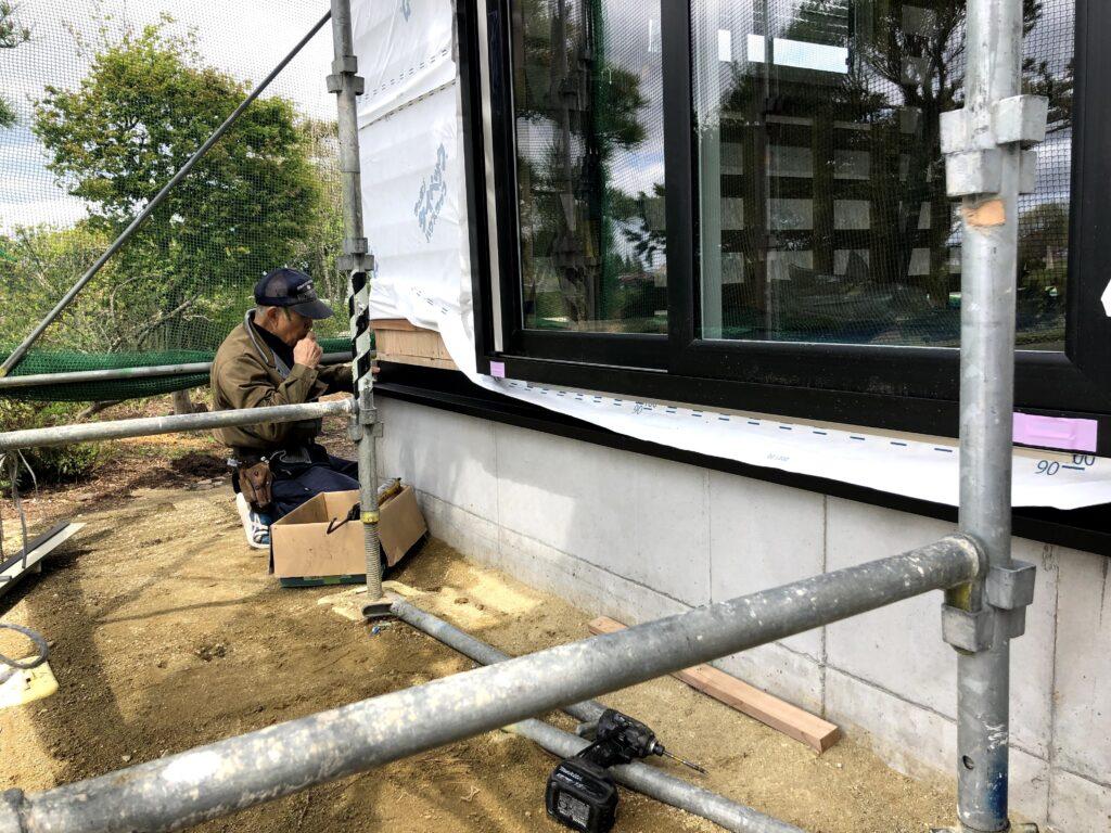 【栗原市 C様邸 新築工事】大工工事:バラ板/透湿シート/土台水切り