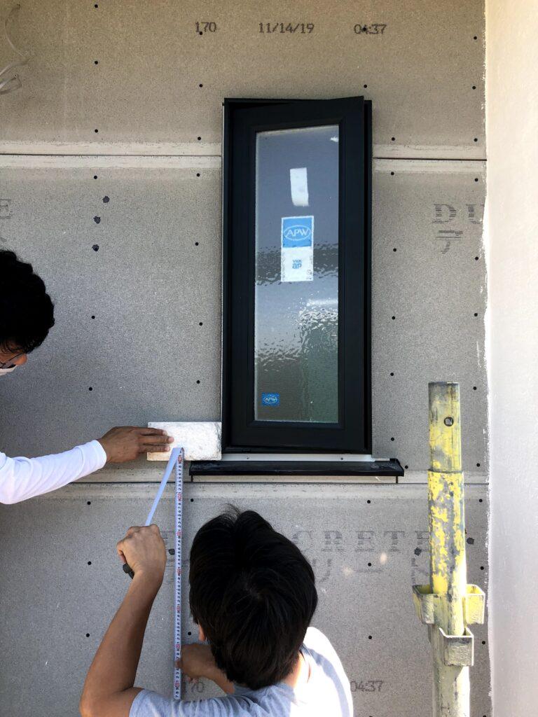 【栗原市 C様邸 新築工事】タイル工事:外壁石張り